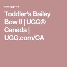 Toddler's Bailey Bow II | UGG® Canada | UGG.com/CA
