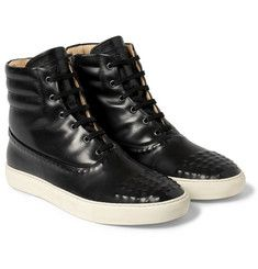 Alexander McQueenLeather High-Top Sneakers