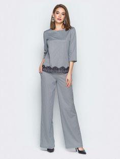 """Комплект 22536 цвета серый от """"Molegi"""" оптом: купить в Украине недорого - Chia Jumpsuit, Street Style, Fashion Outfits, Suits, Dresses, Overalls, Vestidos, Fashion Suits, Urban Style"""