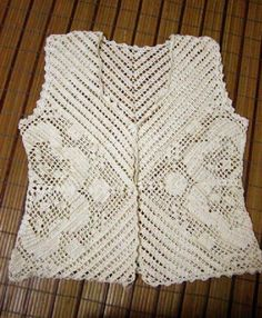 Gradient Baby Vest Making - Örgü El İşleri Crochet Tank Tops, Crochet Shirt, Crochet Cardigan, Knit Crochet, Knitting Stitches, Baby Knitting, Knitting Patterns, Crochet Patterns, Gilet Crochet