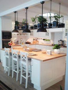 Image result for biała kuchnia z wyspą zdjęcia