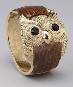 Top It Off Chocolate Owl Cuff