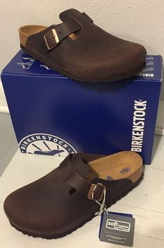 b97a1e5671f4 BIRKENSTOCK Boston Clog 44 R Habana Brown Oiled Leather Soft Footbed   fashion  clothing