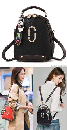 Goin out with jh mira Leisure PU Leather Small Shoulder Bag Handbag Cute Backpack Stylish Backpacks, Cute Backpacks, Girl Backpacks, Leather Backpacks, School Backpacks, Lace Backpack, Diaper Bag Backpack, Diaper Bags, Backpack Outfit
