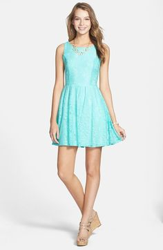 Mimi Chica Lace Skater Dress (Juniors) available at #Nordstrom