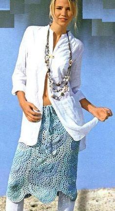 Кружевная юбка крючком, схемы вязания | Вязаные юбки.ру