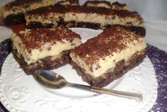 Retete Culinare - Negresa cu crema de vanilie si lamaie