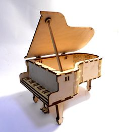 Grand piano decor for home model puzzle musical instruments Vector plan of the CNC wood, wooden, vector graphics,laser,DXF Cnc Router, Cnc Wood, Wooden Dollhouse, Dollhouse Furniture, Piano Crafts, Home Music, Decorative Floor Lamps, Cd R, Barbie Miniatures