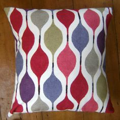 Bespoke covers individually made for you You are purchasing one pair of cushion covers professionally made with Verve Red A 100 cotton fabric by