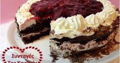 Ημέρα της ονομαστικής μου εορτής η σημερινή και είπα να σας κεράσω ένα από τα πιο αγαπημένα μου γλυκά. Μια υπέροχη τούρτα black forest! Π...
