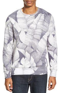 Sol Angeles 'Masa Leaf' Print Crewneck Sweatshirt available at #Nordstrom