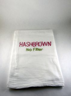 Kimmy Schmidt Flour Sack Towel  Hash brown no by TweetandHoot