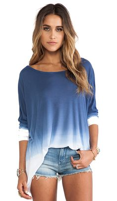 Saint Grace Omega Oversized Top in Liberty Ombre | REVOLVE