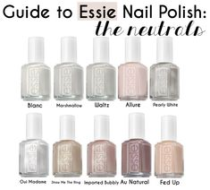 Guide to Essie Nail Polish: The Neutrals