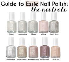 Guide to Essie Nail Polish: The Neutrals