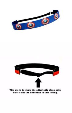 RAVEbandz Exclusive Fashion Headbands (CAPTAIN AMERICA) – Adjustable, Non-Slip Sports & Fitness Hair Bands for Women and Girls