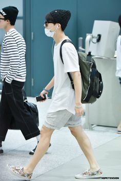I love J-hopes fashion here. Especially his shoes lol always looking so handsome