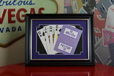 Sands Las Vegas CLOSED 5x7 Flush Spades Authentic Playing Card Display by SinCityDisplays on Etsy