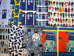 Doctor Who fabrics at Spoonflower