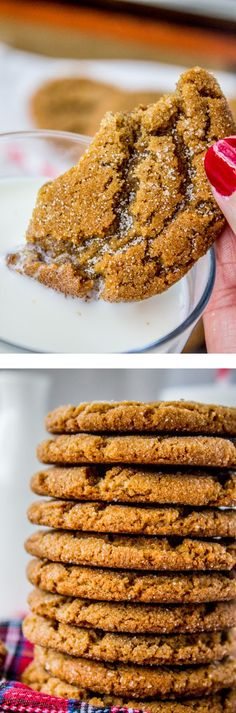 Gramma Prudy's Classic Gingersnaps by The Food Charlatan // This classic Gingersnap cookie is straight from my husband's great-grandmother Prudy, who was from Sweden. They are crispy yet chewy and probably the best thing that will ever happen to your glass of milk. Perfect for Christmas baking!