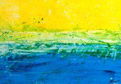 Abstracto-marina paisajística Acrylic on paper 50x70 original work made by: Xavi Queralt