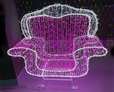 Christmas Commercial Decorative Light Chair Christmas Chair, Christmas Projects, Christmas Themes, Light Decorations, Outdoor Decorations, Led Christmas Lights, Elegant Christmas, Spray Painting, Save Energy