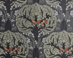 STENCIL for Walls - Art Nouveau TREE Pattern with Birds - Large tree stencil for DIY Home Decor. $49.95, via Etsy.