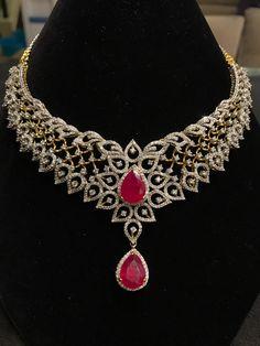 Diamond Necklace Set Stone Jewelry Rings Gold Jewelery Box India