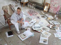 Jenny Saville in her studio. Photo by Robin Friend.