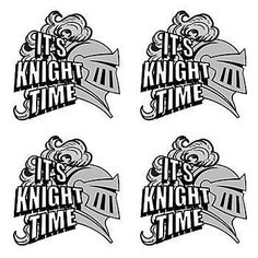 Wear this It's Knight Time Temporary Tattoo proudly and battle your opponents!