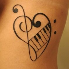 Piano Keys Tattoo | Left Half Sleeve Piano Keys Music Tattoo For Girls