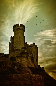 CASTLES OF SPAIN -  Peñafiel Castle is situated in the village of Peñafiel in the Valladolid province in Spain. An older fortress once stood here as it was an important point on the line of defence of the river Duero, for both Christians and Moors, during the 9th and 10th centuries.