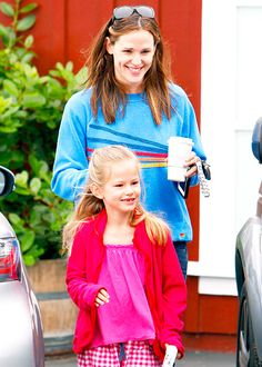 Jennifer Garner with her daughter Violet