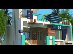 House Balcony Design, Single Floor House Design, Bungalow House Design, Front Elevation Designs, House Elevation, Modern Porch, 3d House Plans, House Front, Decoration