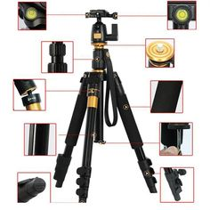 62.69$  Buy now - http://alig4g.worldwells.pw/go.php?t=32722475033 - DSLR Camera Tripod - Professional Portable Travel Compact Monopod With Ball Head Adjustable Legs Magnesium Aluminium For Canon 62.69$