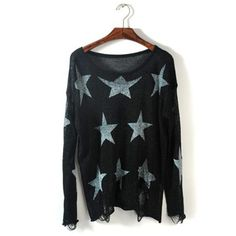 Star Hole Sweater$46.00 ($46) found on Polyvore