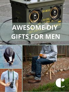 Starting the hunt for DIY ideas early this year and am sharing my favorite do-it-yourself holiday gifts for men.