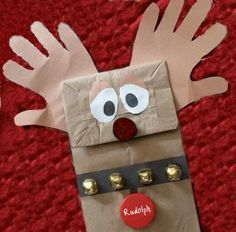 kids christmas party ideas | Rudolph Christmas Craft | Kids Christmas Party ideas