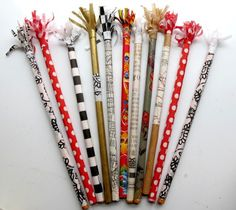 dry frilled pencils