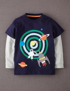 I've spotted this @BodenClothing Layered Appliqué T-shirt Navy/Space