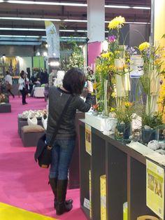 IPM 2013, Chrysant inspireert de bloemist op het inspiratie plein van de duitse bloemistenvereniging FDF.