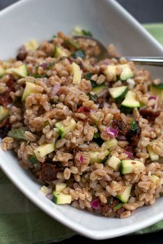 Farro Salad with Sun-dried Tomatoes and Zucchini