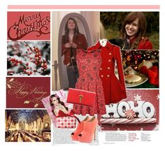 """""""Christmas with Massie Block(Elizabeth Mclaughlin)"""" by i-flowergirl ❤ liked on Polyvore featuring Apricot, Boohoo, Yves Saint Laurent and Clinique"""
