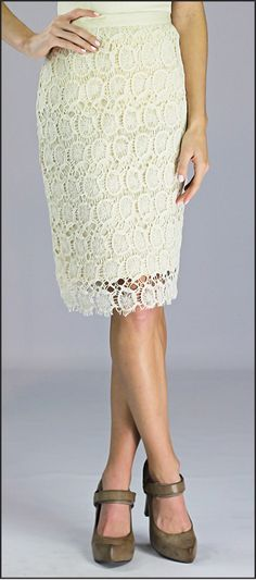 Lace Skirt from Mikarose.. So pretty!
