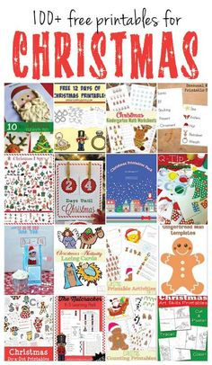 More than 100 free Christmas printables for all your Christmas fun and learning needs, including Christmas games, Christmas play dough activities, Christmas math activities, Christmas language arts, elf on the shelf, nativity printables, and much more! || Gift of Curiosity