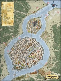 ---------------Combine this map with the one with same comment------------------ Fantasy Map Making, Fantasy City Map, Fantasy Town, Fantasy Castle, Fantasy Rpg, Fantasy World, Rpg Pathfinder, Imaginary Maps, Village Map