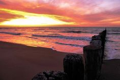 Spectacular sunset at Cadzand beach