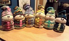 These are the sock snowmen I made after seeing fellow pinners creations!