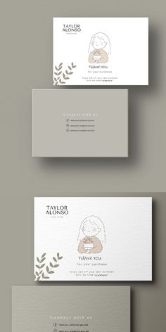 Art Business Cards, Business Thank You Cards, Minimal Business Card, Thank You Card Design, Name Card Design, Business Branding, Business Design, Site Cv, Stationery Design