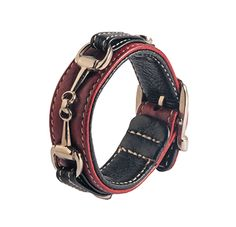 Leather bracelet with bit – BURGUNDY Jewelry Accessories, Fashion Accessories, Equestrian, Fine Jewelry, Burgundy, Decoration, Bracelets, Leather, Black